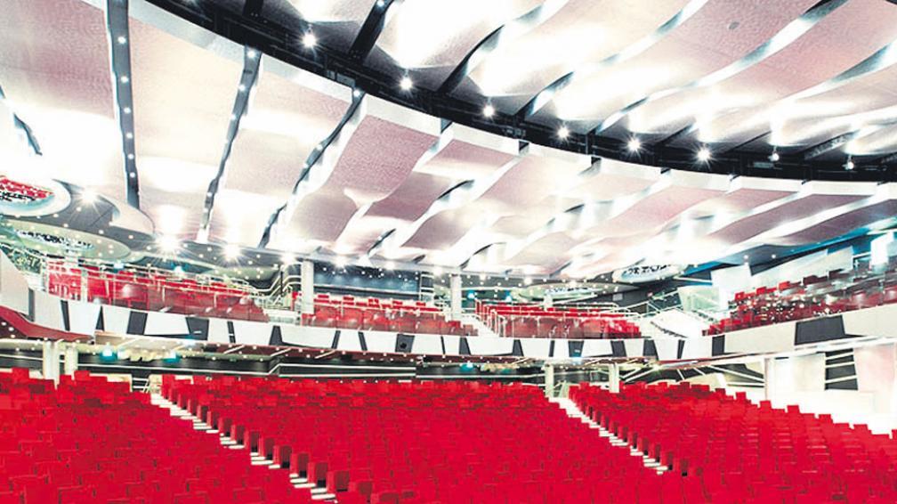 Imponente, el teatro con capacidad para 1.600 espectadores.