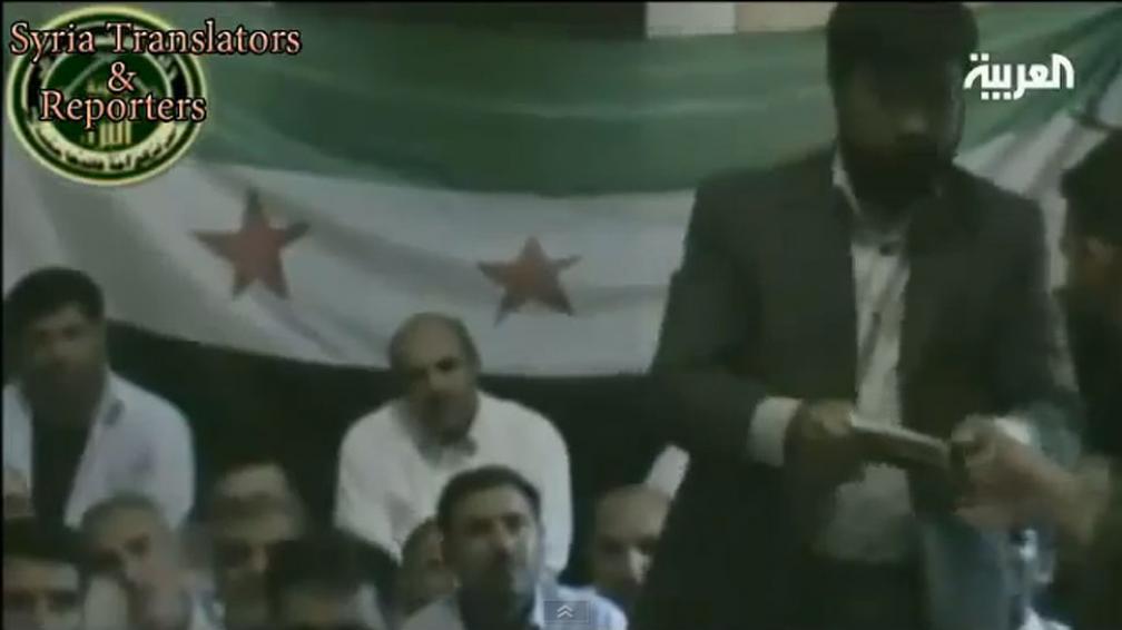 VIDEO. Las imágenes difundidas muestran a un grupo  custodiado por rebeldes sirios (Captura video).