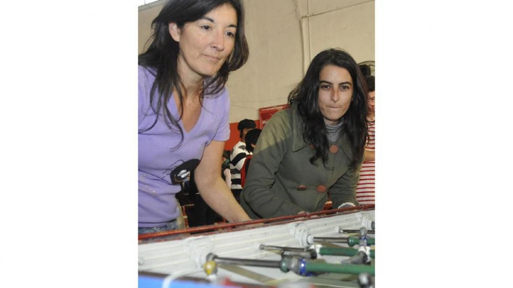 """""""Pate"""" Paleo y Andrea Leguizamón, las mujeres también juegan (La Voz / Pedro Castillo)."""