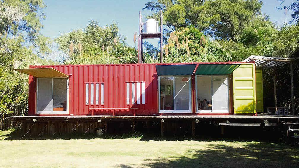 Construir con contenedores mar timos la voz del interior - Como hacer una casa con un contenedor maritimo ...