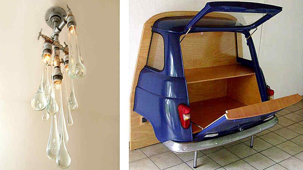 Razones para utilizar muebles y objetos reciclados la for Reciclado de muebles y objetos