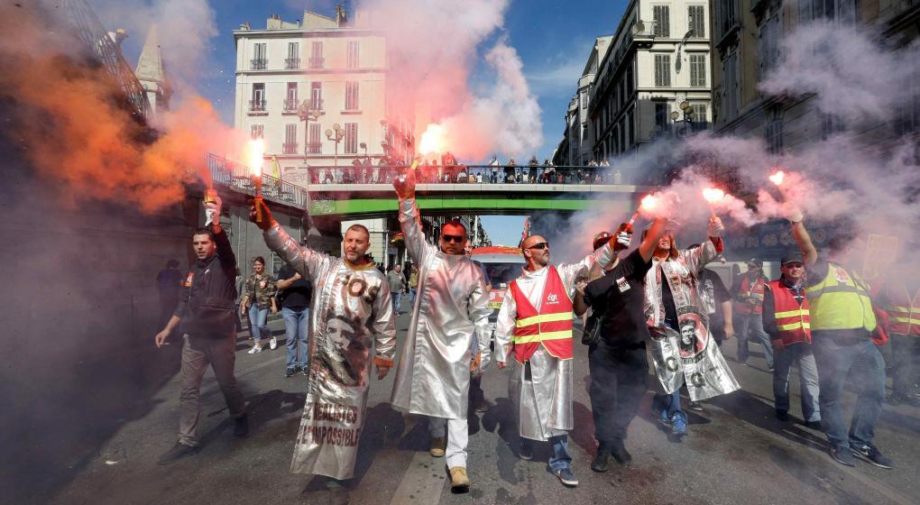 Francia: represión e incidentes en una marcha contra la reforma laboral