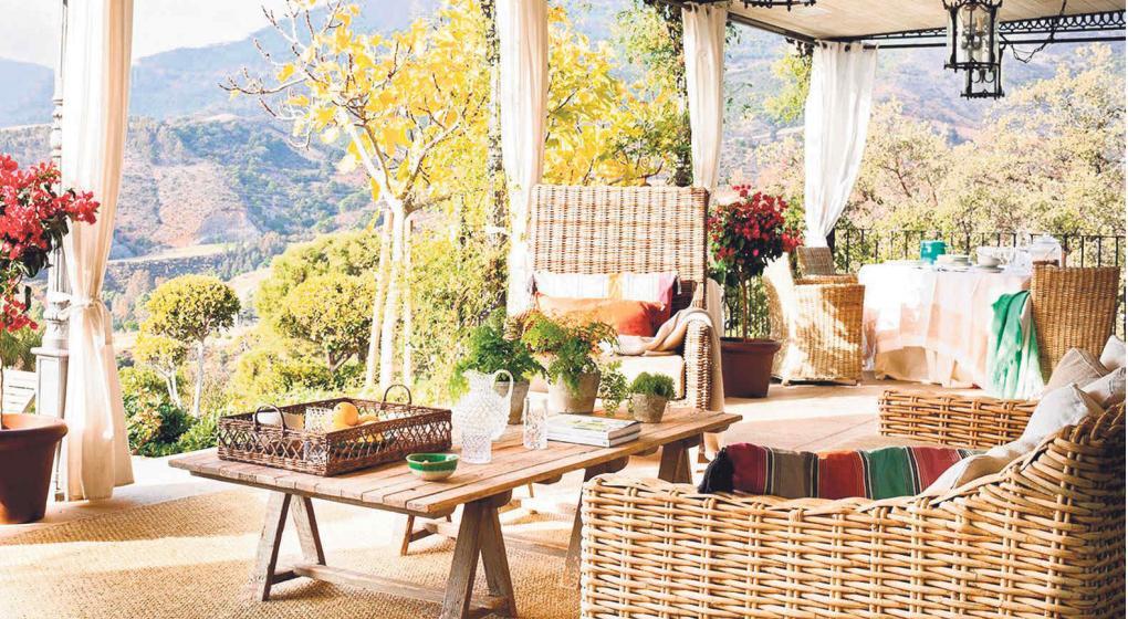 muebles de mimbre artesanales atractivos y naturales
