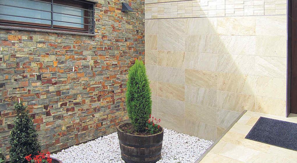 Revestimientos de piedra material noble y eterno - Piedra pared exterior ...