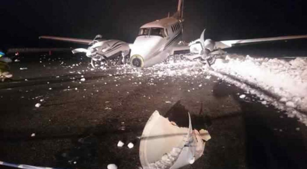 Un avión privado se accidentó en Bariloche