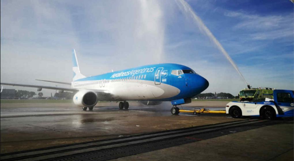 Aerolíneas Argentinas incorporó un Boeing 737/800 a su flota