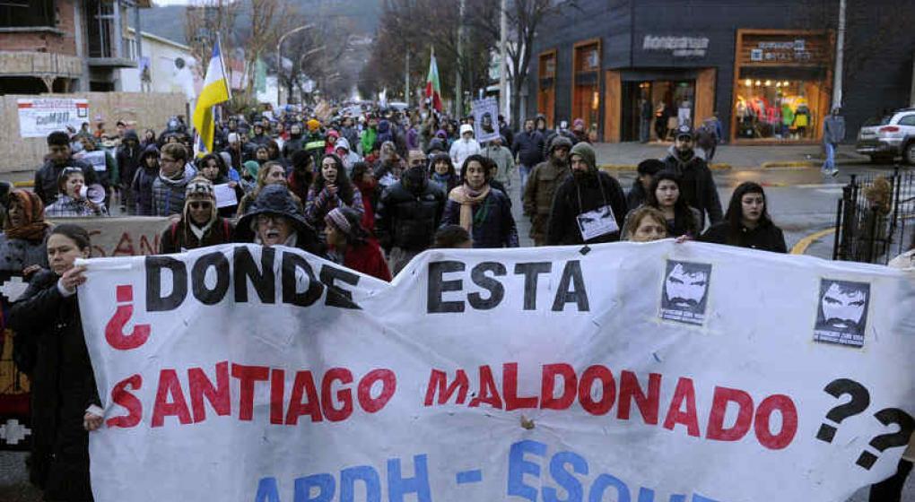 El celular de Maldonado se activó luego de su desaparición