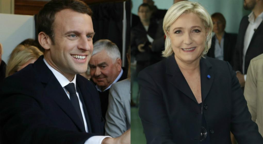 Con el 90% escrutado, Macron y Le Pen pasan al balotaje