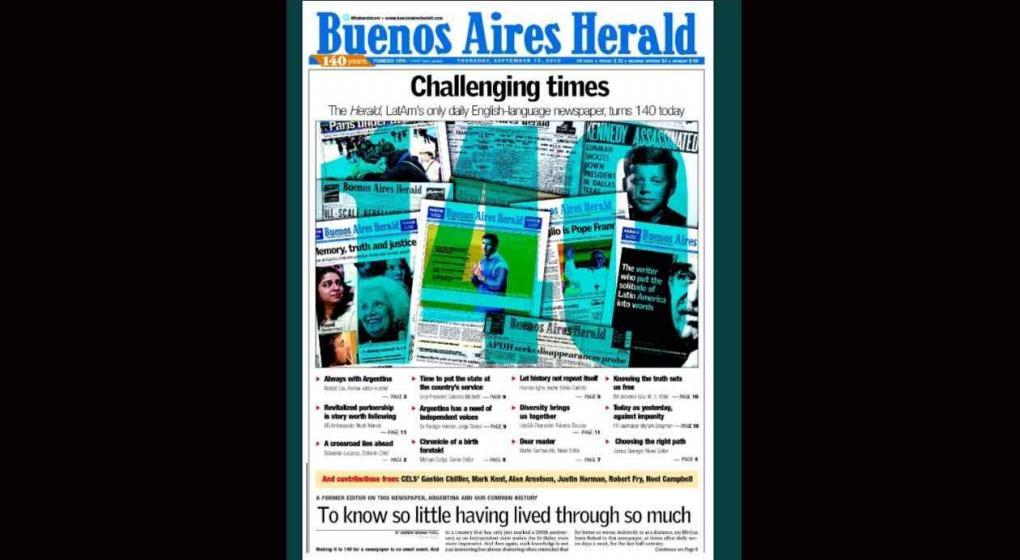 Cierra el Buenos Aires Herald tras 140 años