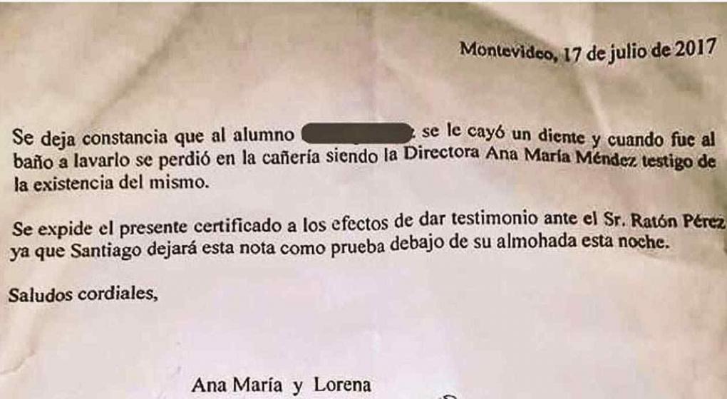 Directora le escribió tierna carta al Ratón Pérez y se volvió viral