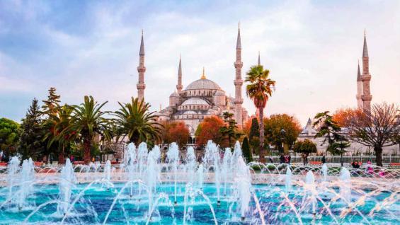 La mezquita azul, en Estambul, Turquía.