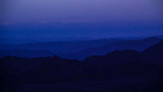 Un cielo que se presenta imponente, en la gama de los azules. (Car Chercoles)