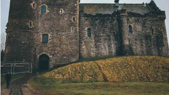 castillo de Doune. Fortaleza medieval, en el distrito de Stirling, centro de Escocia. (Marina Tortorella)
