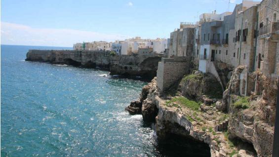 Costas del Salento. Hoy son famosas por las playas. (Graciela Cutuli)