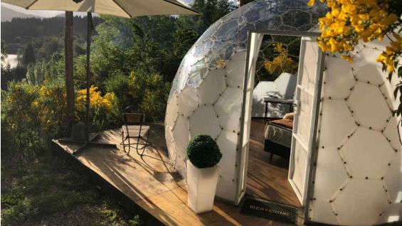 El glamping es un modo de alojamiento que te conecta con la naturaleza de manera más sustentable. (Las Ramblas)