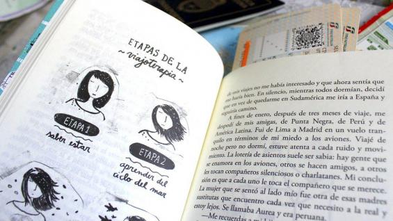 """Las etapas de la viajoterapia, una de las propuestas del libro """"El síndrome de París""""."""