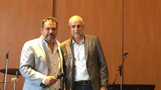 Gustavo Peralta, presidente de Acav, y el titular de la Agencia Córdoba Turismo, Julio Bañuelos. (Agencia Córdoba Turismo)