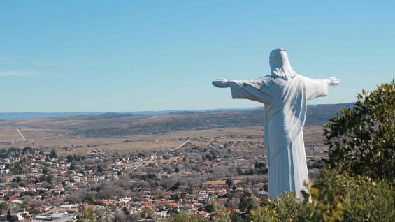 El Cristo Redentor de La Cumbre, un ícono de la ciudad. (Secretaría de Turismo de La Cumbre)