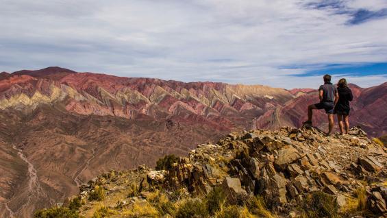El Hornocal. La increíble montaña de 14 colores, en la Quebrada de Humahuca, Jujuy. (123RF)