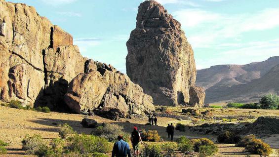 Tranquilidad en el manso paisaje de la estepa patagónica.