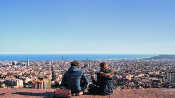 Cielo y mar. Desde el búnker del Carmel se obtienen hermosas vistas de la ciudad.  (Elizabeth Zanni)