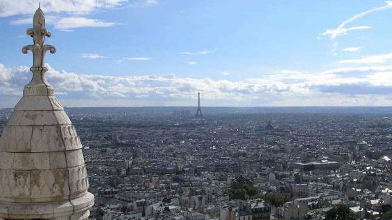 Panorámica de París, desde lo alto de Montmartre.