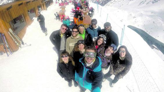 """Una """"selfie"""" en Tío Bob, el restaurante en lo alto de la montaña."""