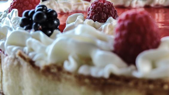 Tarta de zarzamoras, delicias de Villa Alpina. (Foto: Ariela Malem).