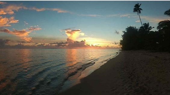 Los atardeceres de Rarotonga están entre los mas famosos del mundo. (Marcelo López)