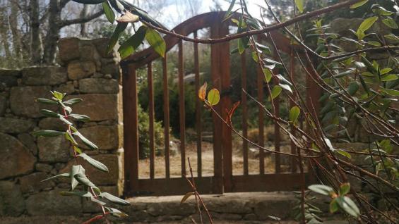 Ingreso al cementerio La Cumbrecita. El lugar, casi oculto, no está abierto al público. (Dirección de Turismo de La Cumbrecita)