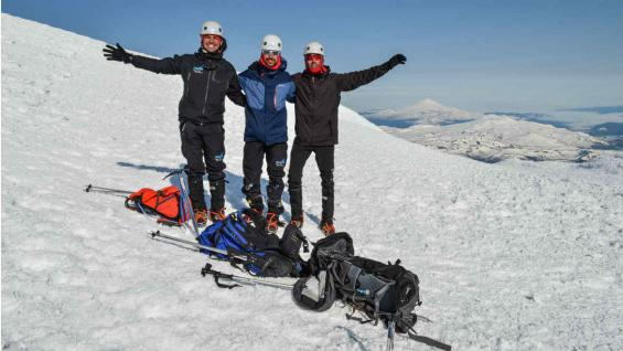 Cumbre del volcán Lanín, a 3776 msnm. (Eduardo Miotti)