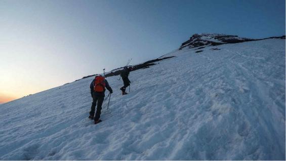 Nevado del CAJA, atardecer del día dos. (Eduardo Miotti)