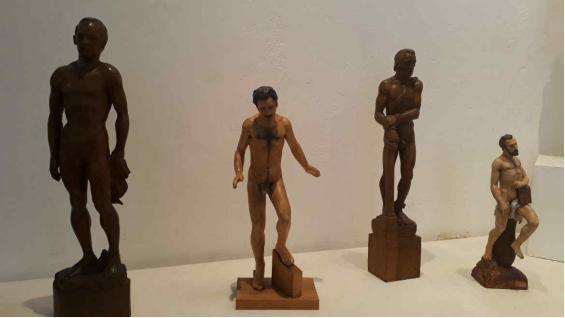 Algunas de las esculturas realizadas por David. (Benita Cuellar)