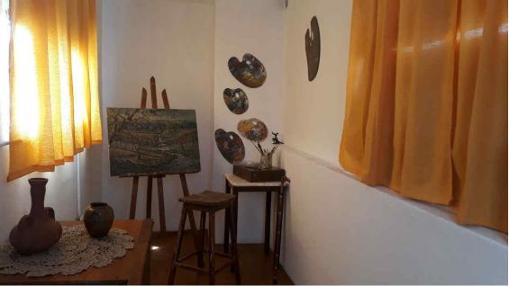 El pulé donde pintaba Eugenio Rivolta. (Benita Cuellar)