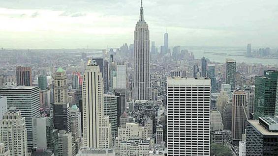 Panorámica desde el Top on the Rock, en Rockefeller Center.