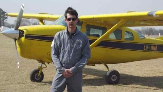 ALTA GRACIA. El piloto Hernán Vázquez (La Voz).