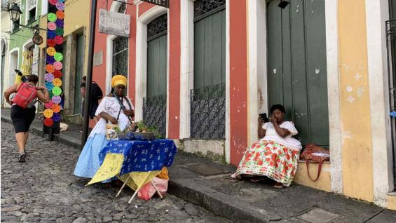 Las raíces africanas se reflejan en el barrio más tradicional de Bahía. (Pablo Bertorello)
