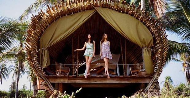 Disfrutá del paraíso mexicano dentro de estas cabañas de bambú