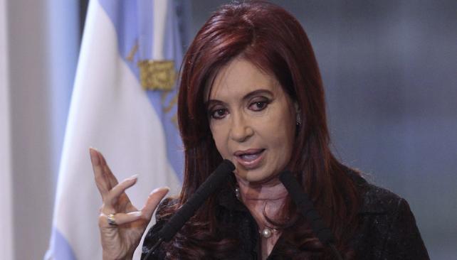 CRISTINA FERNÁNDEZ. Informó oficialmente el duelo nacional (DyN/Archivo).