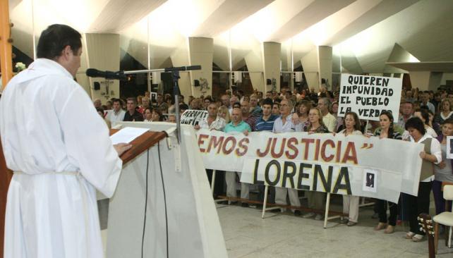 CASO AUBÁN. Misa y pedido de justicia en Arroyito (La Voz).