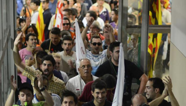 Marcha. Barcelona fue otra vez escenario de protestas antiajuste (AP).
