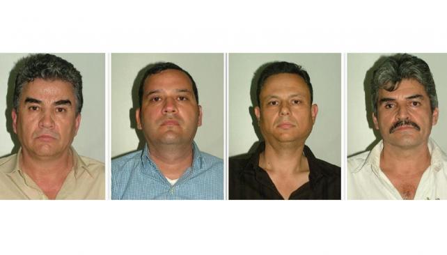 Arrestos. Gutiérrez Guzmán, Samuel Zazueta, Celaya Valenzuela y Palazuelos Soto fueron detenidos en un operativo sorpresivo en Madrid (AP).