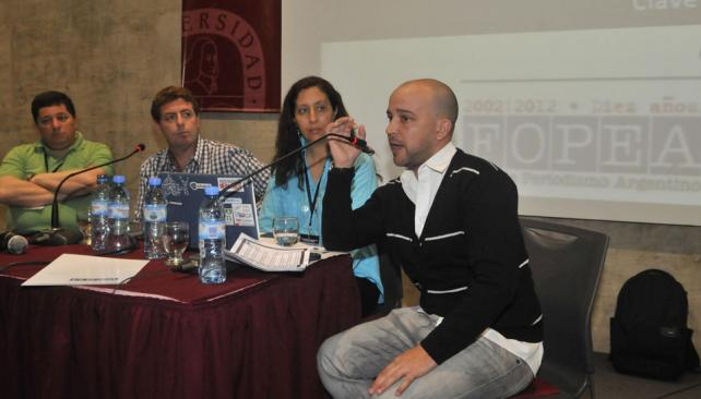 Julio Perotti, Gastón Roitberg, Elena Brizuela y Abel Escudero (La Voz / Raimundo Viñuelas).