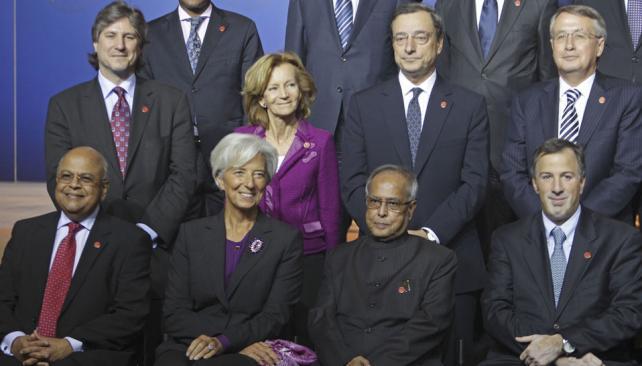 Foto de cierre. Los ministros de Finanzas se reunieron por dos días (AP).