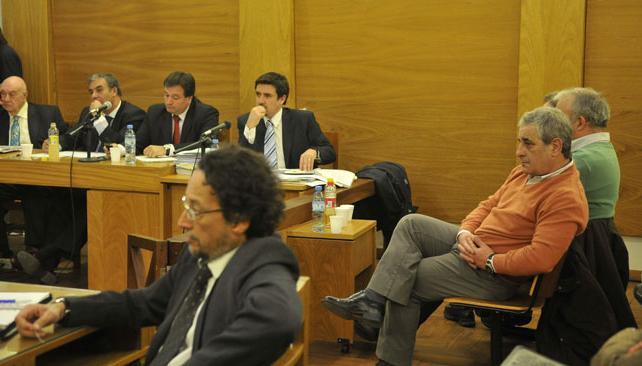 JUICIO POR ITUZAINGÓ ANEXO. Los tres acusados (José Hernández/ La Voz).