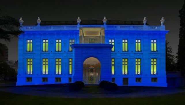 MUSEO EVITA. El Master Plan de Iluminación Digital prevé una escena lumínica diferente por noche en cada edificio cultural (Prensa Gobierno de Córdoba).