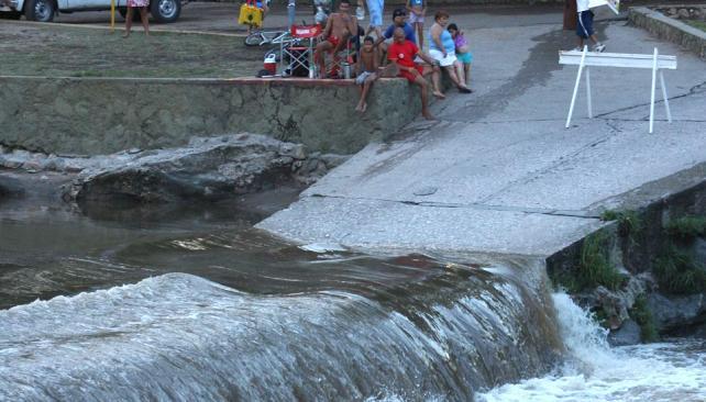 Río San Antonio. Registró una crecida de 1,40 metro (LaVoz).