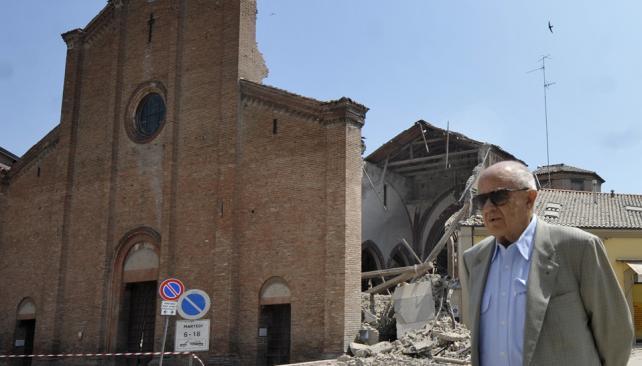 ITALIA. El sismo en el norte del país (AP).
