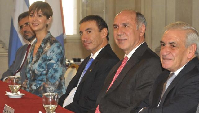 Vocales y jueces. Andruet, Tarditti, Sesín, Lorenzetti (Corte Suprema) y Rubio (Raimundo Viñuelas/La Voz).