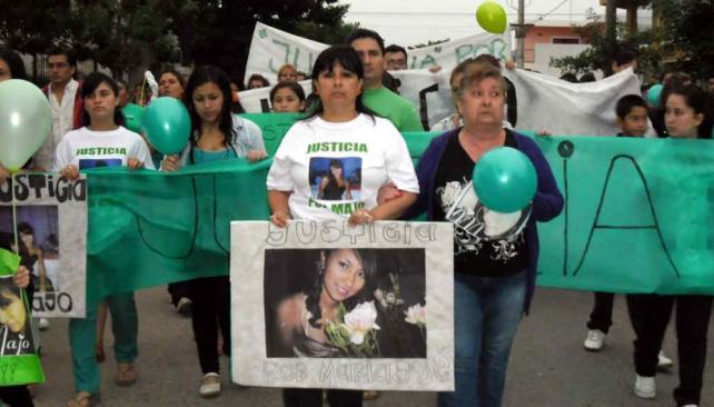 """Marcha. Por el crimen de """"Majo"""" se realizaron movilizaciones (La Voz/Archivo)."""